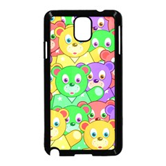 Cute Cartoon Crowd Of Colourful Kids Bears Samsung Galaxy Note 3 Neo Hardshell Case (black)