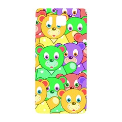 Cute Cartoon Crowd Of Colourful Kids Bears Samsung Galaxy Alpha Hardshell Back Case