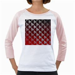 Netflix Play Button Pattern Girly Raglans