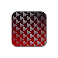 Netflix Play Button Pattern Rubber Square Coaster (4 Pack)