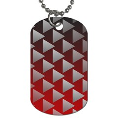 Netflix Play Button Pattern Dog Tag (one Side)