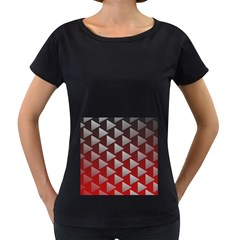 Netflix Play Button Pattern Women s Loose-Fit T-Shirt (Black)