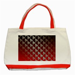 Netflix Play Button Pattern Classic Tote Bag (red)