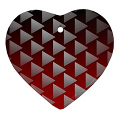 Netflix Play Button Pattern Heart Ornament (two Sides)
