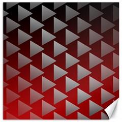 Netflix Play Button Pattern Canvas 12  x 12