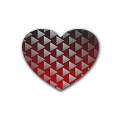 Netflix Play Button Pattern Rubber Coaster (Heart)