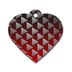 Netflix Play Button Pattern Dog Tag Heart (two Sides)