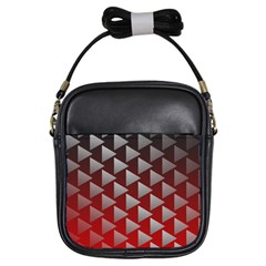Netflix Play Button Pattern Girls Sling Bags