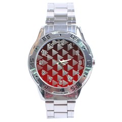 Netflix Play Button Pattern Stainless Steel Analogue Watch