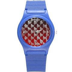 Netflix Play Button Pattern Round Plastic Sport Watch (s)