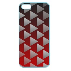 Netflix Play Button Pattern Apple Seamless Iphone 5 Case (color)