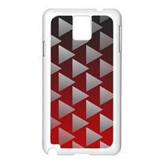Netflix Play Button Pattern Samsung Galaxy Note 3 N9005 Case (white)