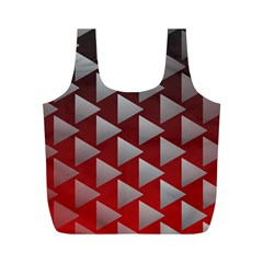 Netflix Play Button Pattern Full Print Recycle Bags (m)