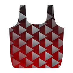 Netflix Play Button Pattern Full Print Recycle Bags (l)