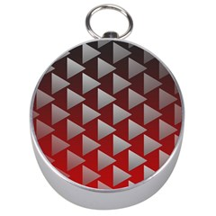 Netflix Play Button Pattern Silver Compasses