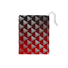 Netflix Play Button Pattern Drawstring Pouches (small)