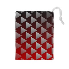 Netflix Play Button Pattern Drawstring Pouches (large)