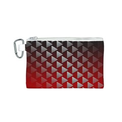 Netflix Play Button Pattern Canvas Cosmetic Bag (S)