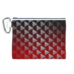 Netflix Play Button Pattern Canvas Cosmetic Bag (L)