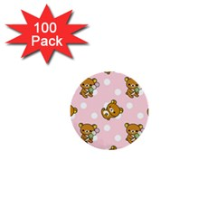 Kawaii Bear Pattern 1  Mini Buttons (100 Pack)