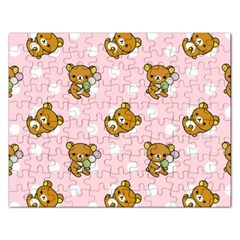 Kawaii Bear Pattern Rectangular Jigsaw Puzzl