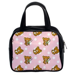 Kawaii Bear Pattern Classic Handbags (2 Sides)