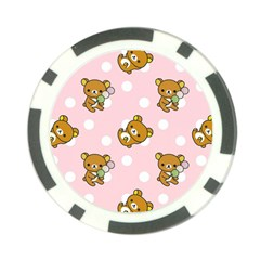 Kawaii Bear Pattern Poker Chip Card Guard (10 pack)