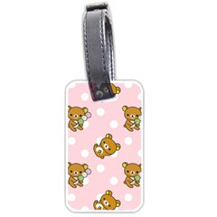 Kawaii Bear Pattern Luggage Tags (Two Sides)