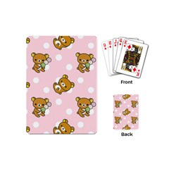 Kawaii Bear Pattern Playing Cards (Mini)