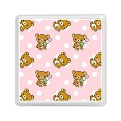 Kawaii Bear Pattern Memory Card Reader (Square)