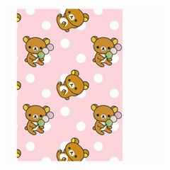 Kawaii Bear Pattern Small Garden Flag (two Sides)