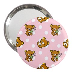 Kawaii Bear Pattern 3  Handbag Mirrors