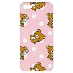 Kawaii Bear Pattern Apple Iphone 5 Hardshell Case