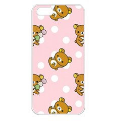 Kawaii Bear Pattern Apple Iphone 5 Seamless Case (white)