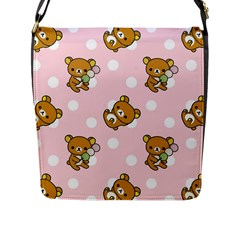 Kawaii Bear Pattern Flap Messenger Bag (L)