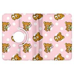 Kawaii Bear Pattern Kindle Fire Hdx Flip 360 Case