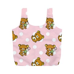 Kawaii Bear Pattern Full Print Recycle Bags (m)