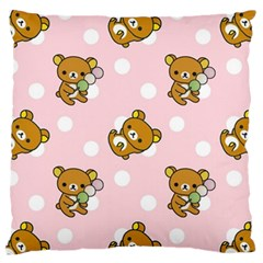 Kawaii Bear Pattern Standard Flano Cushion Case (one Side)