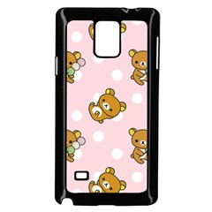 Kawaii Bear Pattern Samsung Galaxy Note 4 Case (black)