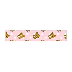 Kawaii Bear Pattern Flano Scarf (mini)