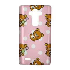 Kawaii Bear Pattern LG G4 Hardshell Case