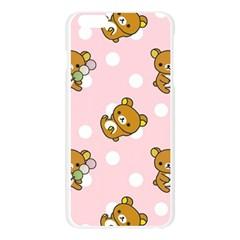 Kawaii Bear Pattern Apple Seamless iPhone 6 Plus/6S Plus Case (Transparent)