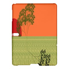 Sunset Orange Green Tree Sun Red Polka Samsung Galaxy Tab S (10.5 ) Hardshell Case