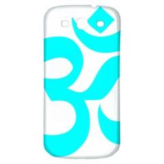 Hindu Om Symbol (cyan) Samsung Galaxy S3 S Iii Classic Hardshell Back Case