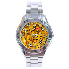 Smileys Linus Face Mask Cute Yellow Stainless Steel Analogue Watch
