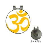 Hindu Om Symbol (Gold) Hat Clips with Golf Markers Front