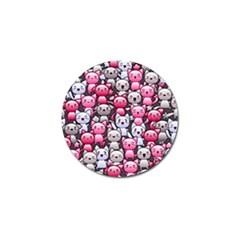Cute Doodle Wallpaper Cute Kawaii Doodle Cats Golf Ball Marker (4 Pack)
