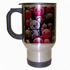 Cute Doodle Wallpaper Cute Kawaii Doodle Cats Travel Mug (silver Gray)