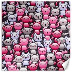 Cute Doodle Wallpaper Cute Kawaii Doodle Cats Canvas 12  X 12