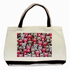 Cute Doodle Wallpaper Cute Kawaii Doodle Cats Basic Tote Bag (two Sides)